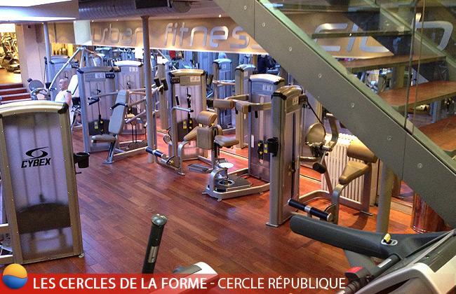 Machines de musculation CYBEX au Cercle République des Cercles de la Forme