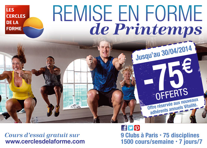 Promotion Printemps 2014 Cercles de la Forme