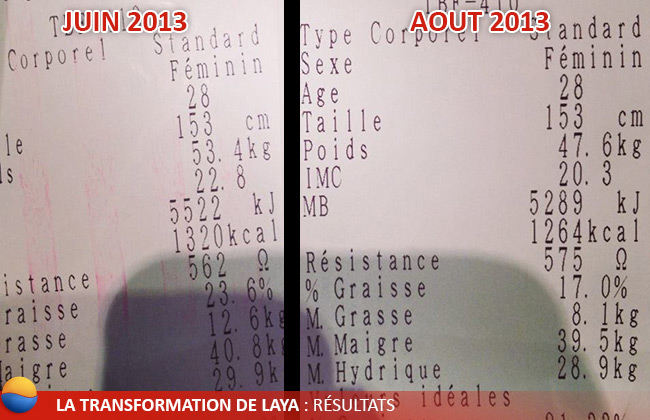 Transformation de Laya : Résultats