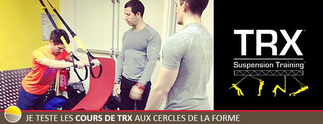 Je teste les cours de TRX aux Cercles de la Forme
