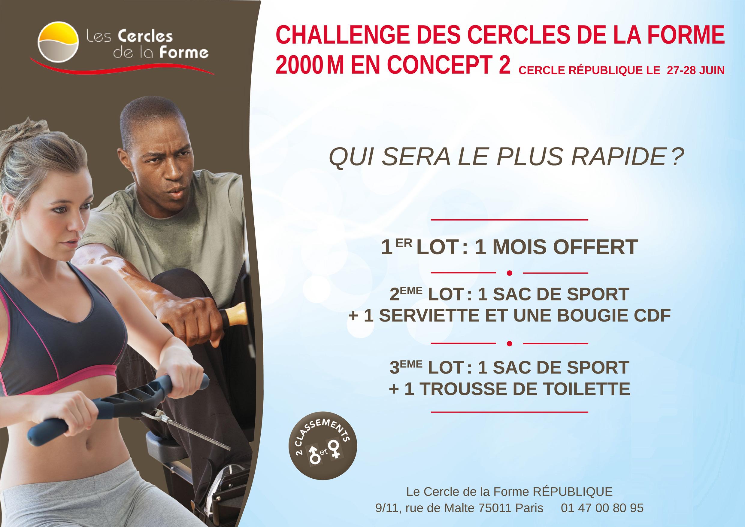 Challenge Rameur PO République