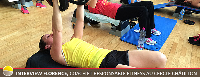 Interview Florence, coach et responsable Fitness au Cercle Châtillon