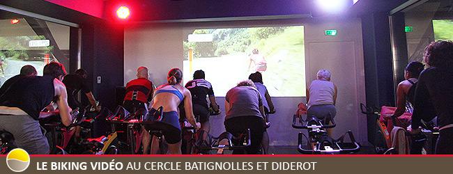 Le Biking Vidéo au Cercle Batignolles et Diderot