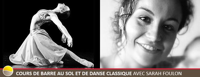 Cours de Barre au Sol et de Danse Classique avec Sarah Foulon