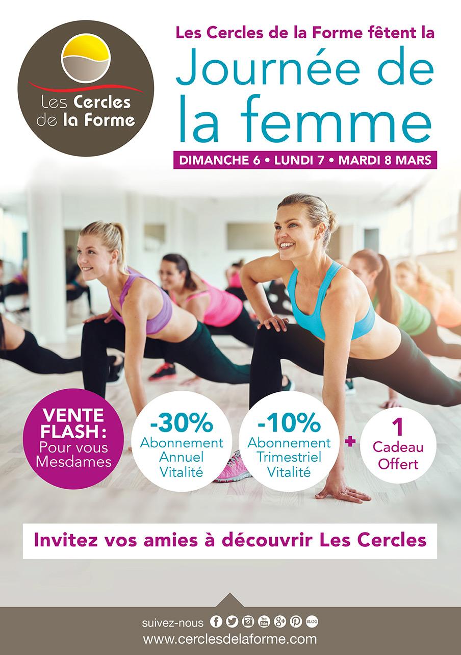Affiche Pour La Journée De La Femme evénement journée de la femme aux cercles de la forme