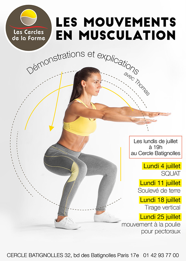 Rendez-vous Plateau de Musculation au Cercle Batignolles