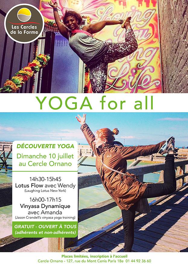 Découverte Yoga au Cercle Ornano