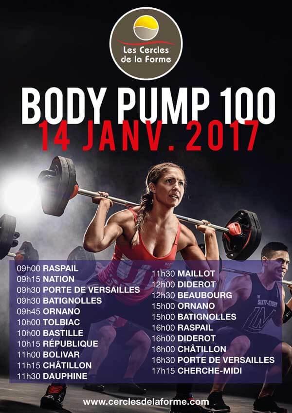 Body Pump 100 Planning Cercles de la forme
