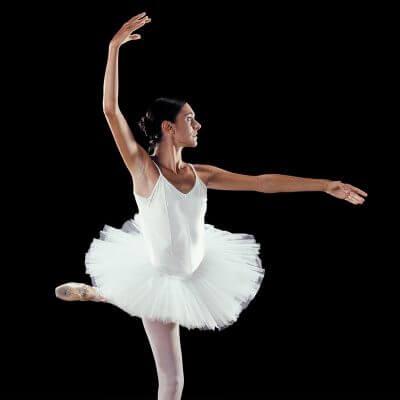 Pointe de danseuse classique