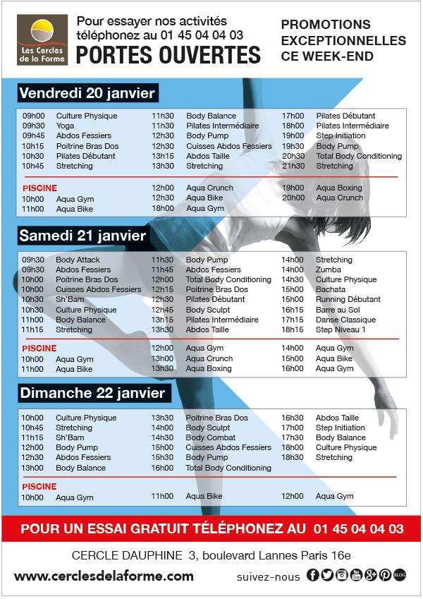 Planning Essai Club de sport Paris Dauphine
