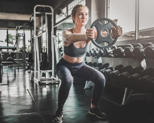 squat exercices pour perdre des cuisses